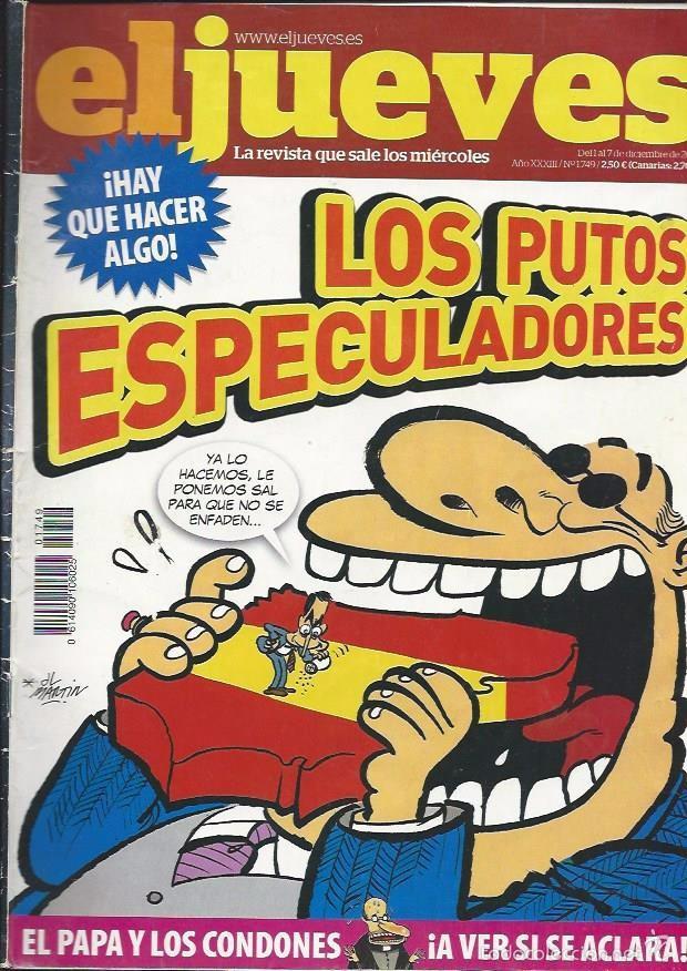 EL JUEVES N° 1749- AÑO 2010 - SEGUNDA MANO (Coleccionismo - Revistas y Periódicos Modernos (a partir de 1.940) - Revista El Jueves)