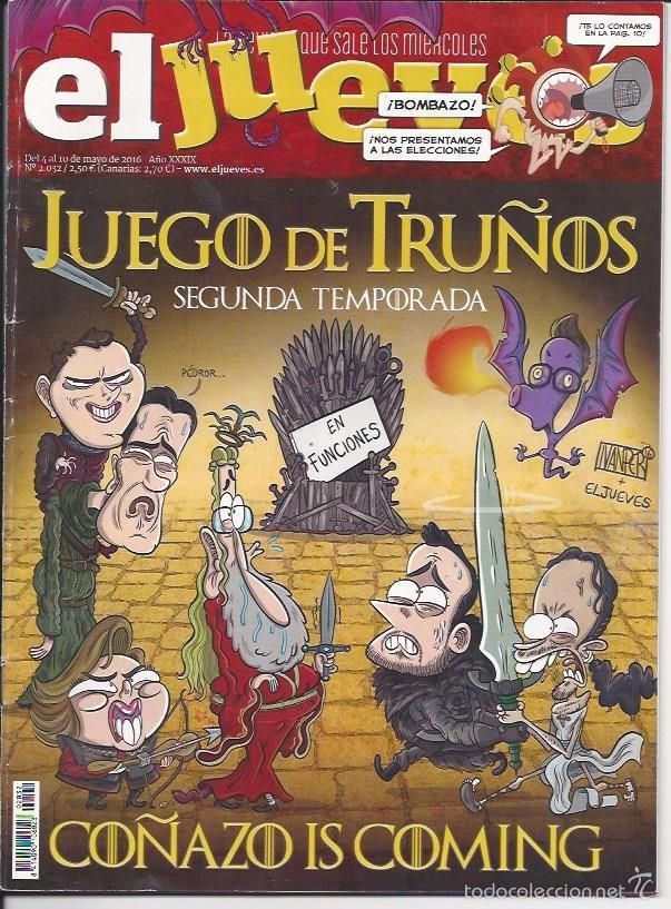 EL JUEVES N° 2032- AÑO 2016 - SEGUNDA MANO (Coleccionismo - Revistas y Periódicos Modernos (a partir de 1.940) - Revista El Jueves)