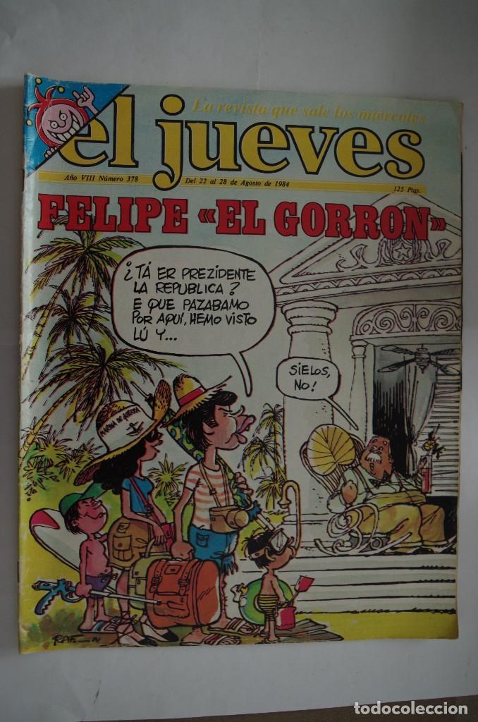 EL JUEVES Nº 378 AÑO 1984 CON FORMATO MAS GRANDE QUE EL ACTUAL (Coleccionismo - Revistas y Periódicos Modernos (a partir de 1.940) - Revista El Jueves)