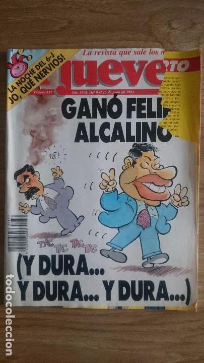 EL JUEVES NÚMERO 837, AÑO 1993 (Coleccionismo - Revistas y Periódicos Modernos (a partir de 1.940) - Revista El Jueves)