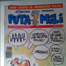 Coleccionismo de Revista El Jueves: LOTE: REVISTA PUTA MILI Nº, 15,51,54,61,78,99,117,123,126,. Lote 67678721