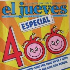 Coleccionismo de Revista El Jueves: EL JUEVES 400 1985. ESPECIAL 400.. Lote 72755495
