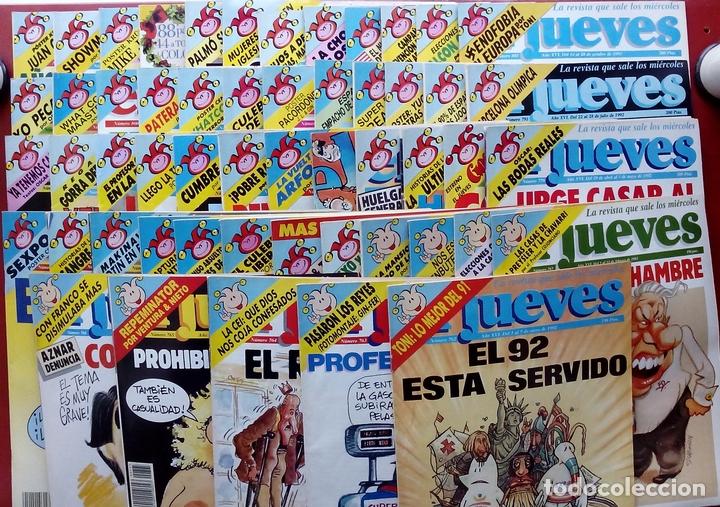 REVISTA EL JUEVES. AÑO 1992. LOTE 23 NÚMEROS ENTRE 763 Y 812 - CON REGALOS (Coleccionismo - Revistas y Periódicos Modernos (a partir de 1.940) - Revista El Jueves)