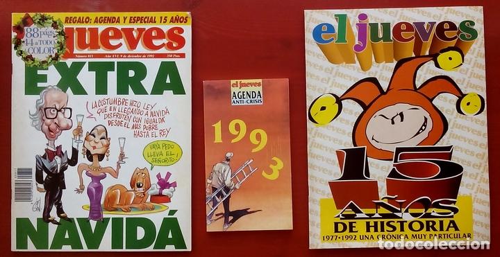 Coleccionismo de Revista El Jueves: REVISTA EL JUEVES. Año 1992. Lote 23 números entre 763 y 812 - Con regalos - Foto 2 - 79272197