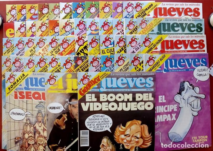 REVISTA EL JUEVES. AÑO 1993. LOTE 18 NÚMEROS ENTRE 815 Y 864 (Coleccionismo - Revistas y Periódicos Modernos (a partir de 1.940) - Revista El Jueves)