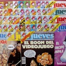 Coleccionismo de Revista El Jueves: REVISTA EL JUEVES. AÑO 1993. LOTE 18 NÚMEROS ENTRE 815 Y 864. Lote 79272370