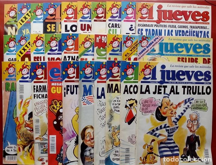 REVISTA EL JUEVES. AÑO 1994 Y 1995. LOTE 23 NÚMS ENTRE 869 Y 916 + 4 REVISTAS ESPECIALES + REGALOS (Coleccionismo - Revistas y Periódicos Modernos (a partir de 1.940) - Revista El Jueves)