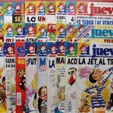 Coleccionismo de Revista El Jueves: REVISTA EL JUEVES. AÑO 1994 Y 1995. LOTE 23 NÚMS ENTRE 869 Y 916 + 4 REVISTAS ESPECIALES + REGALOS. Lote 79272515