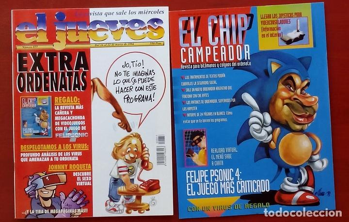 Coleccionismo de Revista El Jueves: REVISTA EL JUEVES. AÑO 1994 y 1995. Lote 23 núms entre 869 y 916 + 4 revistas especiales + regalos - Foto 5 - 79272515