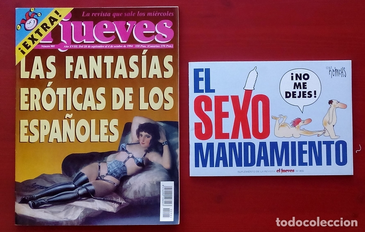 Coleccionismo de Revista El Jueves: REVISTA EL JUEVES. AÑO 1994 y 1995. Lote 23 núms entre 869 y 916 + 4 revistas especiales + regalos - Foto 7 - 79272515