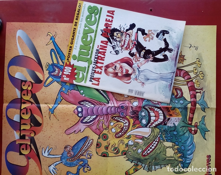 Coleccionismo de Revista El Jueves: REVISTA EL JUEVES. AÑO 1994 y 1995. Lote 23 núms entre 869 y 916 + 4 revistas especiales + regalos - Foto 8 - 79272515