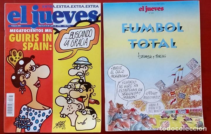 Coleccionismo de Revista El Jueves: REVISTA EL JUEVES. AÑO 1994 y 1995. Lote 23 núms entre 869 y 916 + 4 revistas especiales + regalos - Foto 9 - 79272515