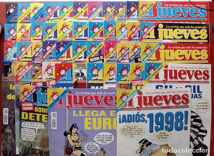 REVISTA EL JUEVES. AÑO 1999. LOTE 32 NÚMEROS ENTRE 1128 Y 1179 - CON REGALOS (Coleccionismo - Revistas y Periódicos Modernos (a partir de 1.940) - Revista El Jueves)