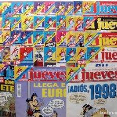 Coleccionismo de Revista El Jueves: REVISTA EL JUEVES. AÑO 1999. LOTE 32 NÚMEROS ENTRE 1128 Y 1179 - CON REGALOS. Lote 79273635