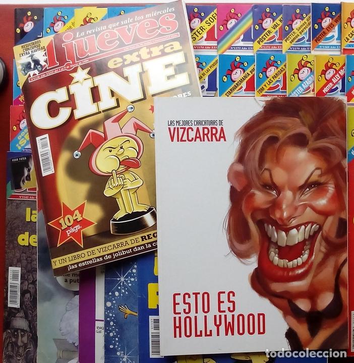 Coleccionismo de Revista El Jueves: REVISTA EL JUEVES. Año 1999. Lote 32 números entre 1128 y 1179 - Con regalos - Foto 2 - 79273635