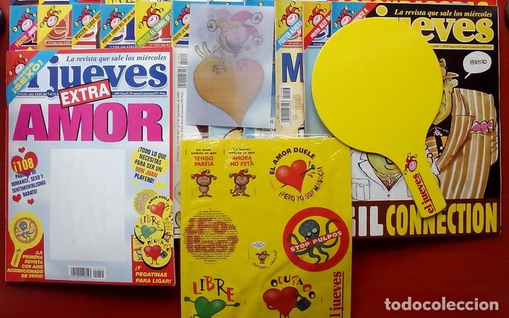 Coleccionismo de Revista El Jueves: REVISTA EL JUEVES. Año 1999. Lote 32 números entre 1128 y 1179 - Con regalos - Foto 6 - 79273635