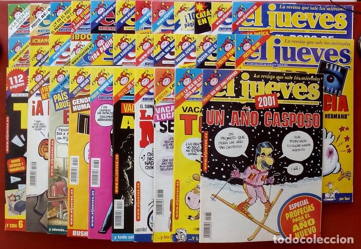 REVISTA EL JUEVES. AÑO 2001. LOTE 14 NÚMEROS ENTRE 1232 Y 1274 + REGALOS (Coleccionismo - Revistas y Periódicos Modernos (a partir de 1.940) - Revista El Jueves)