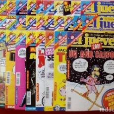 Coleccionismo de Revista El Jueves: REVISTA EL JUEVES. AÑO 2001. LOTE 14 NÚMEROS ENTRE 1232 Y 1274 + REGALOS. Lote 79274083