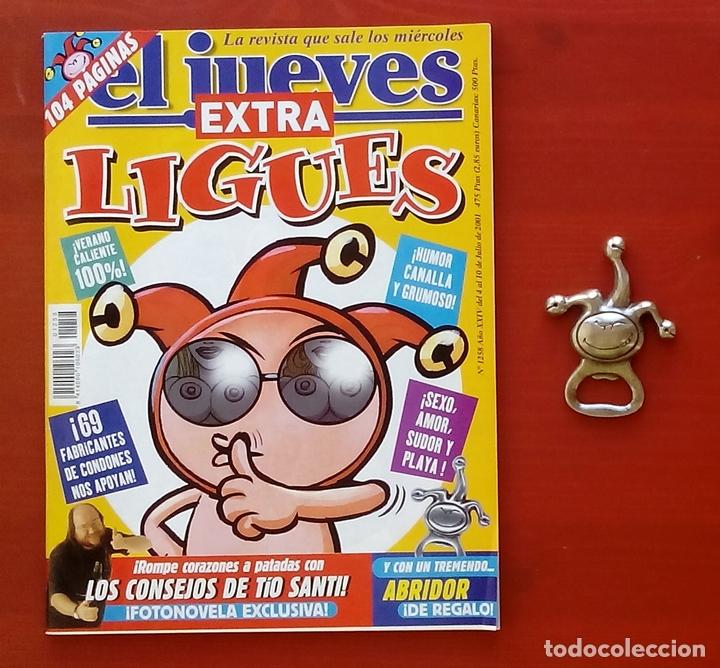 Coleccionismo de Revista El Jueves: REVISTA EL JUEVES. Año 2001. Lote 14 números entre 1232 y 1274 + regalos - Foto 2 - 79274083