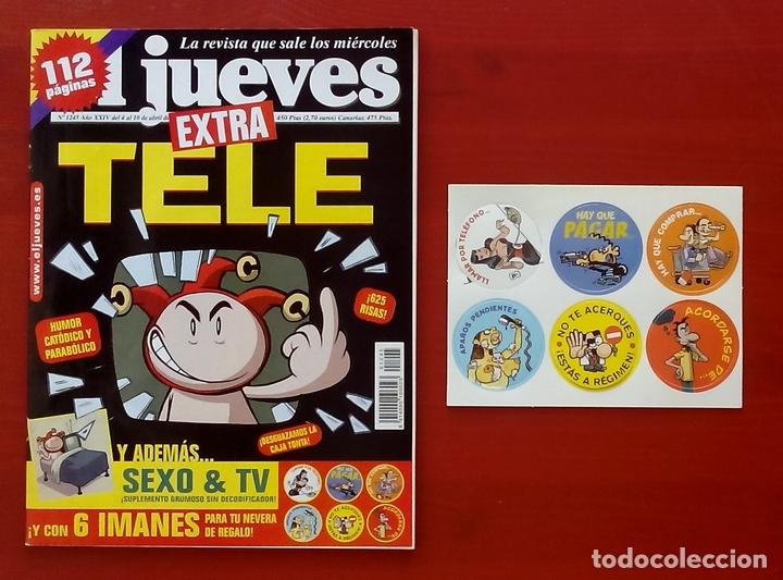 Coleccionismo de Revista El Jueves: REVISTA EL JUEVES. Año 2001. Lote 14 números entre 1232 y 1274 + regalos - Foto 3 - 79274083