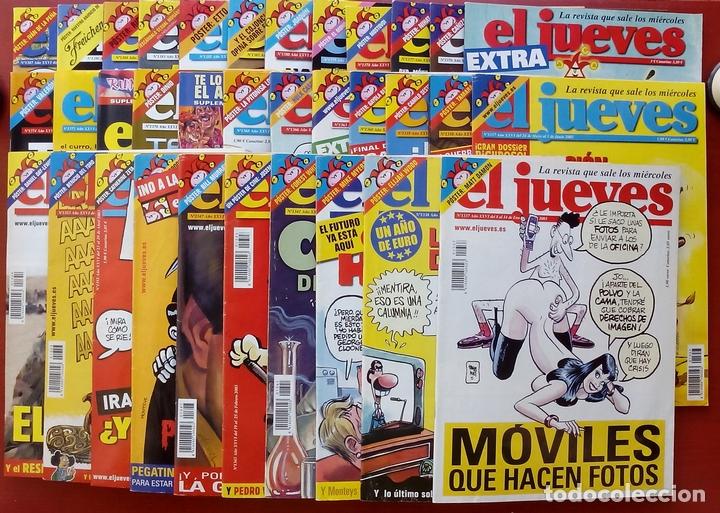 REVISTA EL JUEVES. AÑO 2003. LOTE 19 NÚMEROS ENTRE 1337 Y 1387 - CON REGALOS (Coleccionismo - Revistas y Periódicos Modernos (a partir de 1.940) - Revista El Jueves)