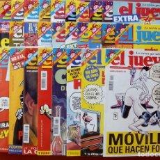 Coleccionismo de Revista El Jueves: REVISTA EL JUEVES. AÑO 2003. LOTE 19 NÚMEROS ENTRE 1337 Y 1387 - CON REGALOS. Lote 79274486