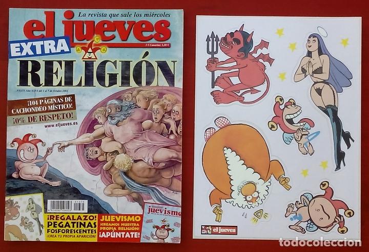 Coleccionismo de Revista El Jueves: REVISTA EL JUEVES. Año 2003. Lote 19 números entre 1337 y 1387 - Con regalos - Foto 2 - 79274486