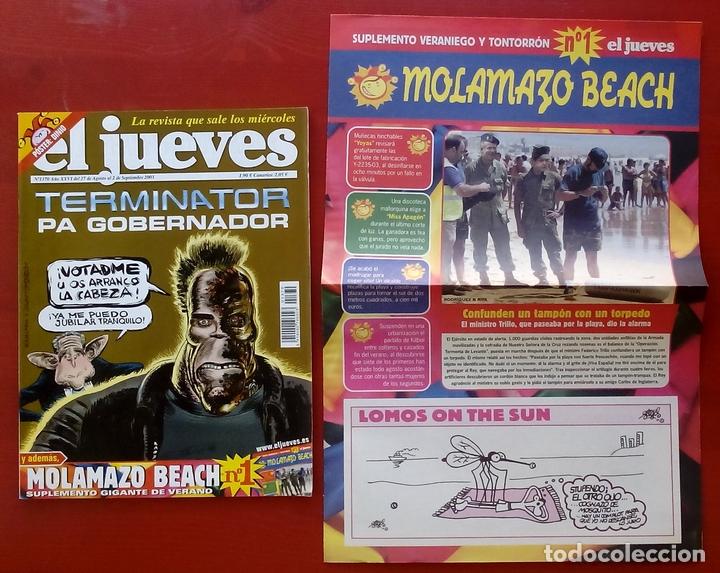 Coleccionismo de Revista El Jueves: REVISTA EL JUEVES. Año 2003. Lote 19 números entre 1337 y 1387 - Con regalos - Foto 5 - 79274486