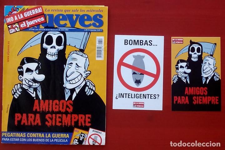 Coleccionismo de Revista El Jueves: REVISTA EL JUEVES. Año 2003. Lote 19 números entre 1337 y 1387 - Con regalos - Foto 6 - 79274486