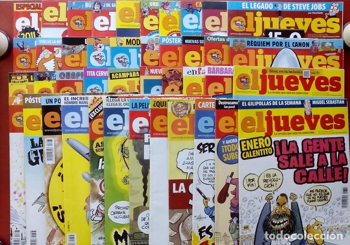 REVISTA EL JUEVES. AÑO 2011. LOTE 16 NÚMEROS ENTRE 1758 Y 1805 + 2 TOMOS (Coleccionismo - Revistas y Periódicos Modernos (a partir de 1.940) - Revista El Jueves)