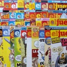 Coleccionismo de Revista El Jueves: REVISTA EL JUEVES. AÑO 2011. LOTE 16 NÚMEROS ENTRE 1758 Y 1805 + 2 TOMOS. Lote 79275751