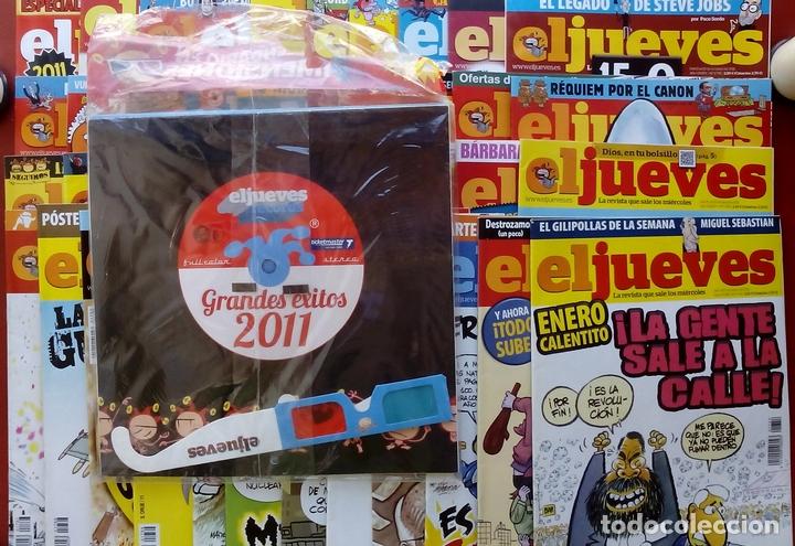Coleccionismo de Revista El Jueves: REVISTA EL JUEVES. Año 2011. Lote 16 números entre 1758 y 1805 + 2 tomos - Foto 2 - 79275751
