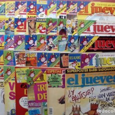 Coleccionismo de Revista El Jueves: REVISTA EL JUEVES. AÑO 1996. LOTE 34 NÚMEROS ENTRE 971 Y 1022 - INCLUYE EL NÚMERO 1000 - CON REGALOS. Lote 79272905