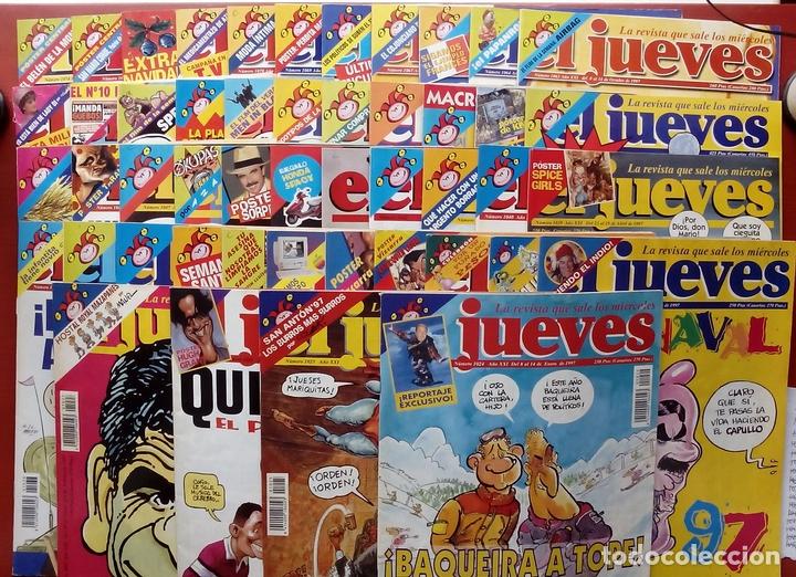REVISTA EL JUEVES. AÑO 1997. LOTE 45 NÚMEROS ENTRE 1024 Y 1074 - CON REGALOS (Coleccionismo - Revistas y Periódicos Modernos (a partir de 1.940) - Revista El Jueves)