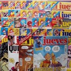 Coleccionismo de Revista El Jueves: REVISTA EL JUEVES. AÑO 1997. LOTE 45 NÚMEROS ENTRE 1024 Y 1074 - CON REGALOS. Lote 79273299