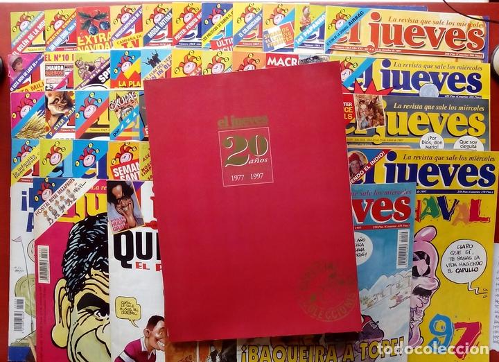 Coleccionismo de Revista El Jueves: REVISTA EL JUEVES. Año 1997. Lote 45 números entre 1024 y 1074 - Con regalos - Foto 2 - 79273299
