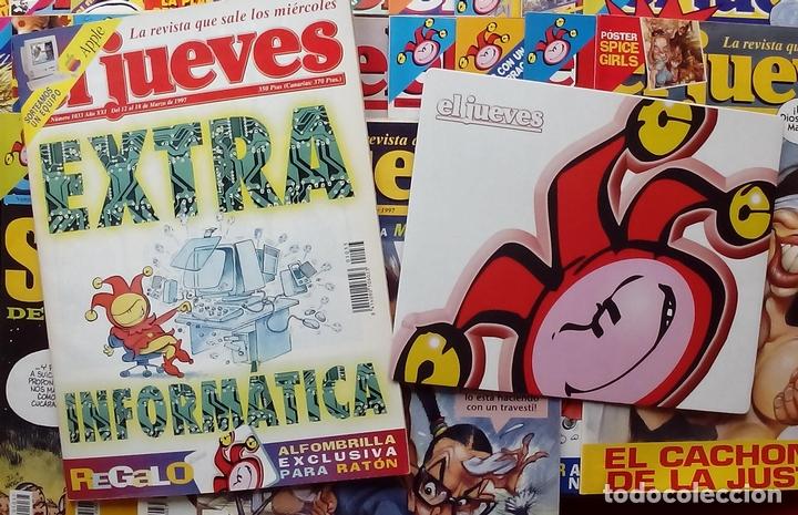 Coleccionismo de Revista El Jueves: REVISTA EL JUEVES. Año 1997. Lote 45 números entre 1024 y 1074 - Con regalos - Foto 3 - 79273299