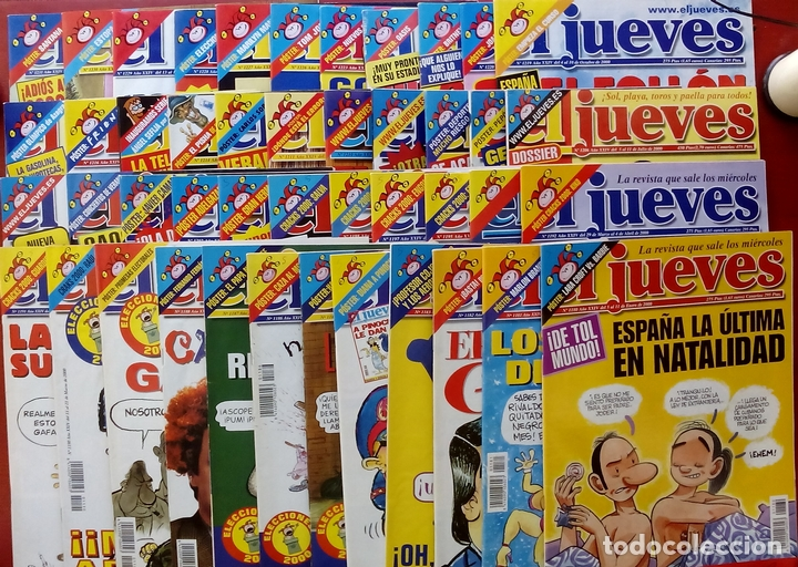 REVISTA EL JUEVES. AÑO 2000. LOTE 31 NÚMEROS ENTRE 1180 Y 1231- CON REGALOS (Coleccionismo - Revistas y Periódicos Modernos (a partir de 1.940) - Revista El Jueves)