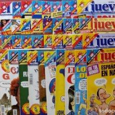 Coleccionismo de Revista El Jueves: REVISTA EL JUEVES. AÑO 2000. LOTE 31 NÚMEROS ENTRE 1180 Y 1231- CON REGALOS. Lote 79273871