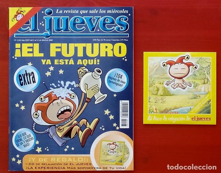Coleccionismo de Revista El Jueves: REVISTA EL JUEVES. Año 2000. Lote 31 números entre 1180 y 1231- Con regalos - Foto 7 - 79273871