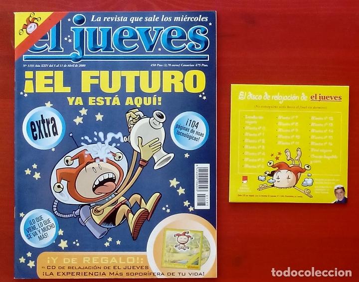 Coleccionismo de Revista El Jueves: REVISTA EL JUEVES. Año 2000. Lote 31 números entre 1180 y 1231- Con regalos - Foto 8 - 79273871