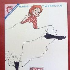 Coleccionismo de Revista El Jueves: COLECCIÓN PENDONES DEL HUMOR 61 - MAMEN DE MARIEL Y MANEL BARCELÓ. Lote 79873957
