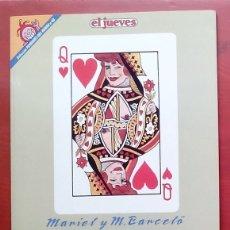 Coleccionismo de Revista El Jueves: COLECCIÓN PENDONES DEL HUMOR 68 - MAMEN DE MARIEL Y MANEL BARCELÓ. Lote 79874026