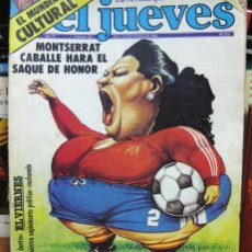Coleccionismo de Revista El Jueves: REVISTA EL JUEVES Nº. 245. FEBRERO 1982. MONTSERRAT CABALLÉ, MUNDIAL DE FÚBOL ESPAÑA 82 - CÓMIC. Lote 79929097