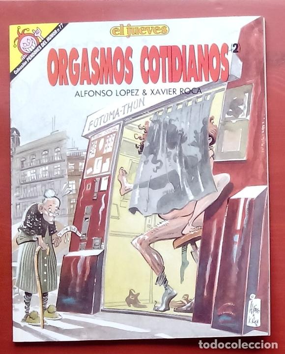 Coleccionismo de Revista El Jueves: 2 tomos de ALFONSO y XAVIER ROCA - ÁLEX CUNILLERA y ORGASMOS COTIDIANOS (PENDONES núm 77) - Foto 4 - 82013483
