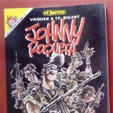 Coleccionismo de Revista El Jueves: LOTE DE 4 TOMOS- JOHNNY ROQUETA DE VAQUER Y T. P. BIGART -PENDONES DEL HUMOR 26,37,52 Y 70. Lote 82021250