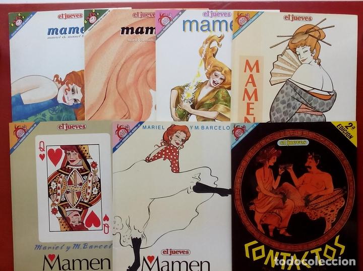 LOTE DE 7 TOMOS- MAMEN DE MARIEL Y MANEL BARCELÓ Y CONTACTOS - PENDONES 10, 61,68,80,98,109 Y 126 (Coleccionismo - Revistas y Periódicos Modernos (a partir de 1.940) - Revista El Jueves)