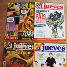 Coleccionismo de Revista El Jueves: EL JUEVES - LOTE 5 NÚMEROS - 1246, 1248, 1250, 1253, 1254. Lote 89445236