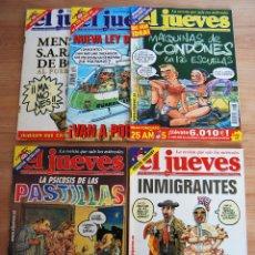 Coleccionismo de Revista El Jueves: EL JUEVES - LOTE 5 NÚMEROS - 1268, 1276, 1288, 1295, 1298. Lote 89445468