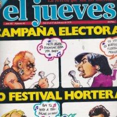 Coleccionismo de Revista El Jueves: REVISTA EL JUEVES. NÚMERO 91 DEL 21 AL 27 FEBREROL 1979. Lote 89781544